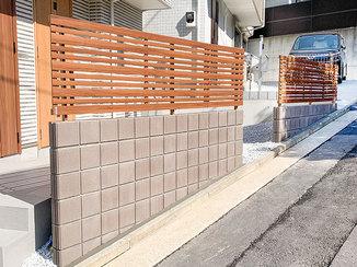 エクステリアリフォーム 家のプライバシーと安全を守る2ヵ所のフェンス